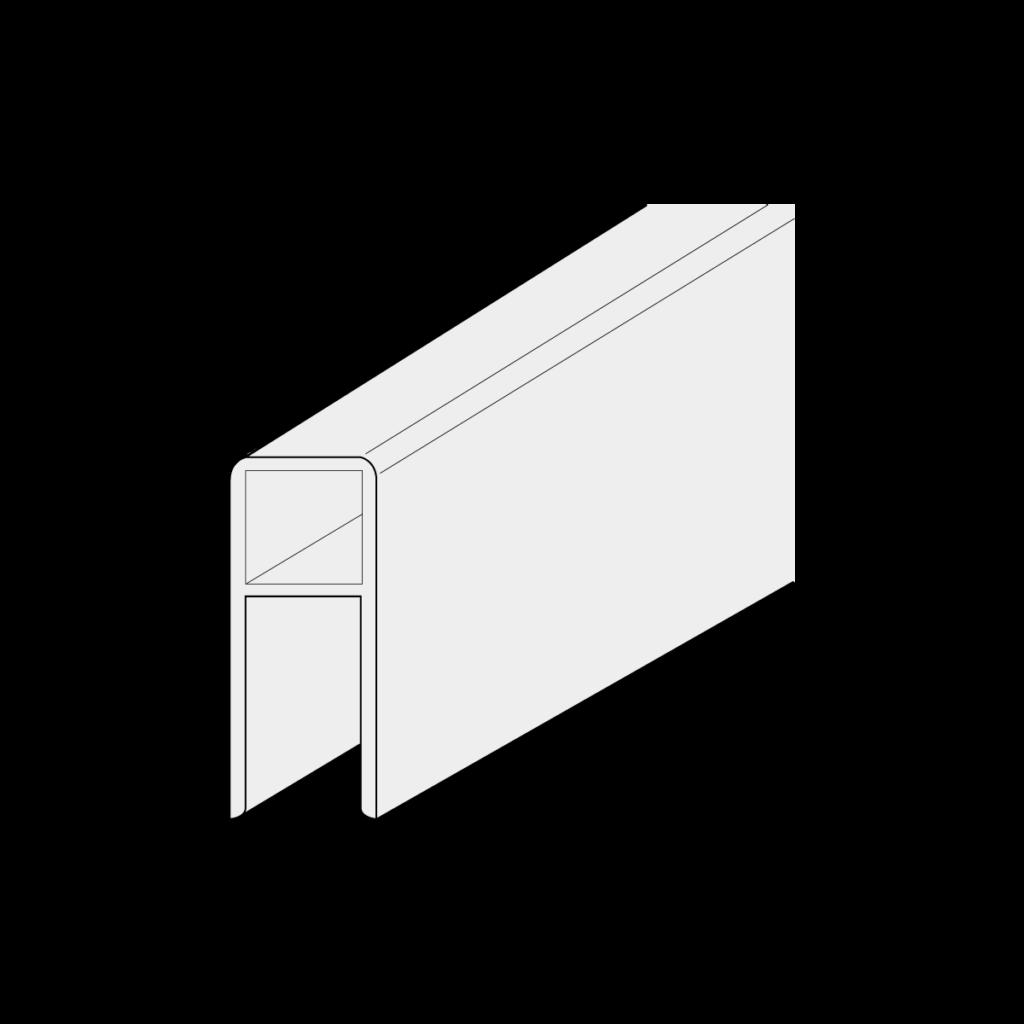 21 040 xxx U Rahmenprofil 1 - https://www.werzalit.com/fr/produit/square-panneau-de-revetement-balcon/