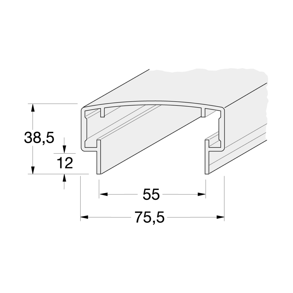 21 095 xxx 21 495 xxx Handlauf Standard 1 - https://www.werzalit.com/fr/produit/square-panneau-de-revetement-balcon/