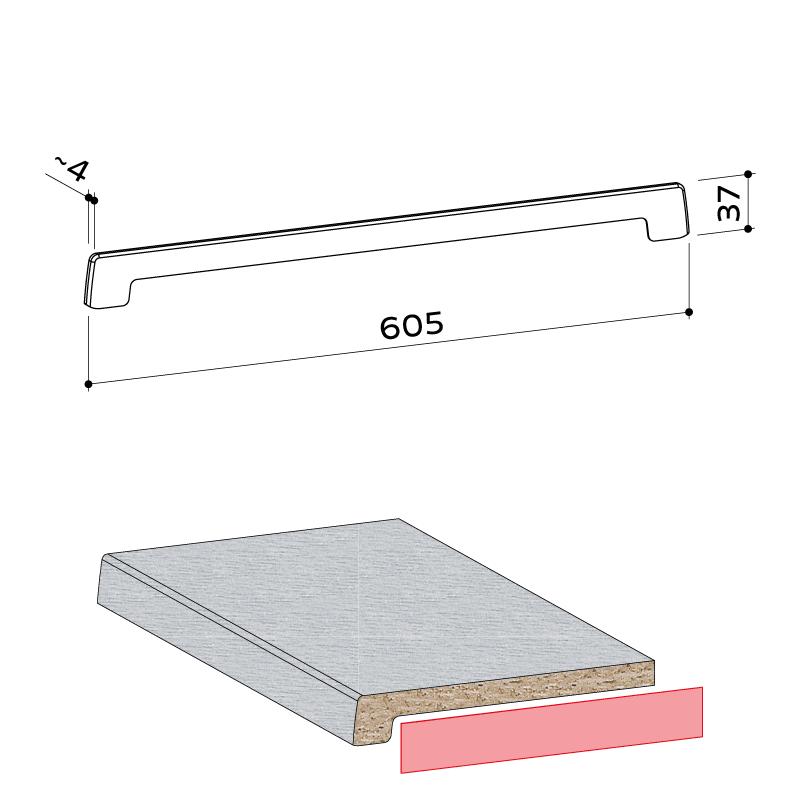 21.305.001 Seitenabschlusskappe 37x605 1 - https://www.werzalit.com/fr/produit/compact-innenfensterbank-600cm/
