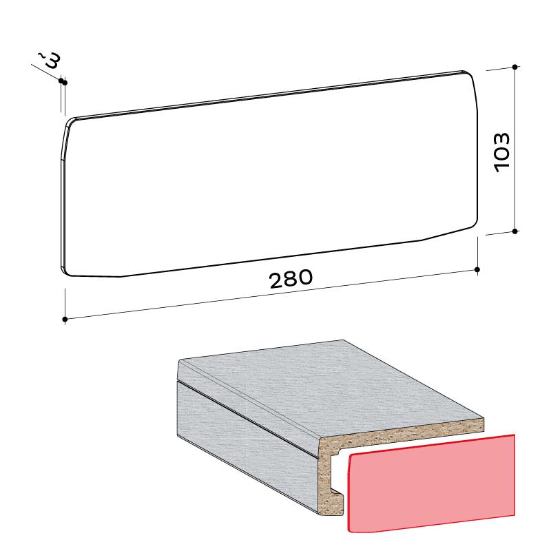 23.073.001 Seitenabschlusskappe exclusiv system 100 - https://www.werzalit.com/nl/exclusiv-systeem-vensterbank/