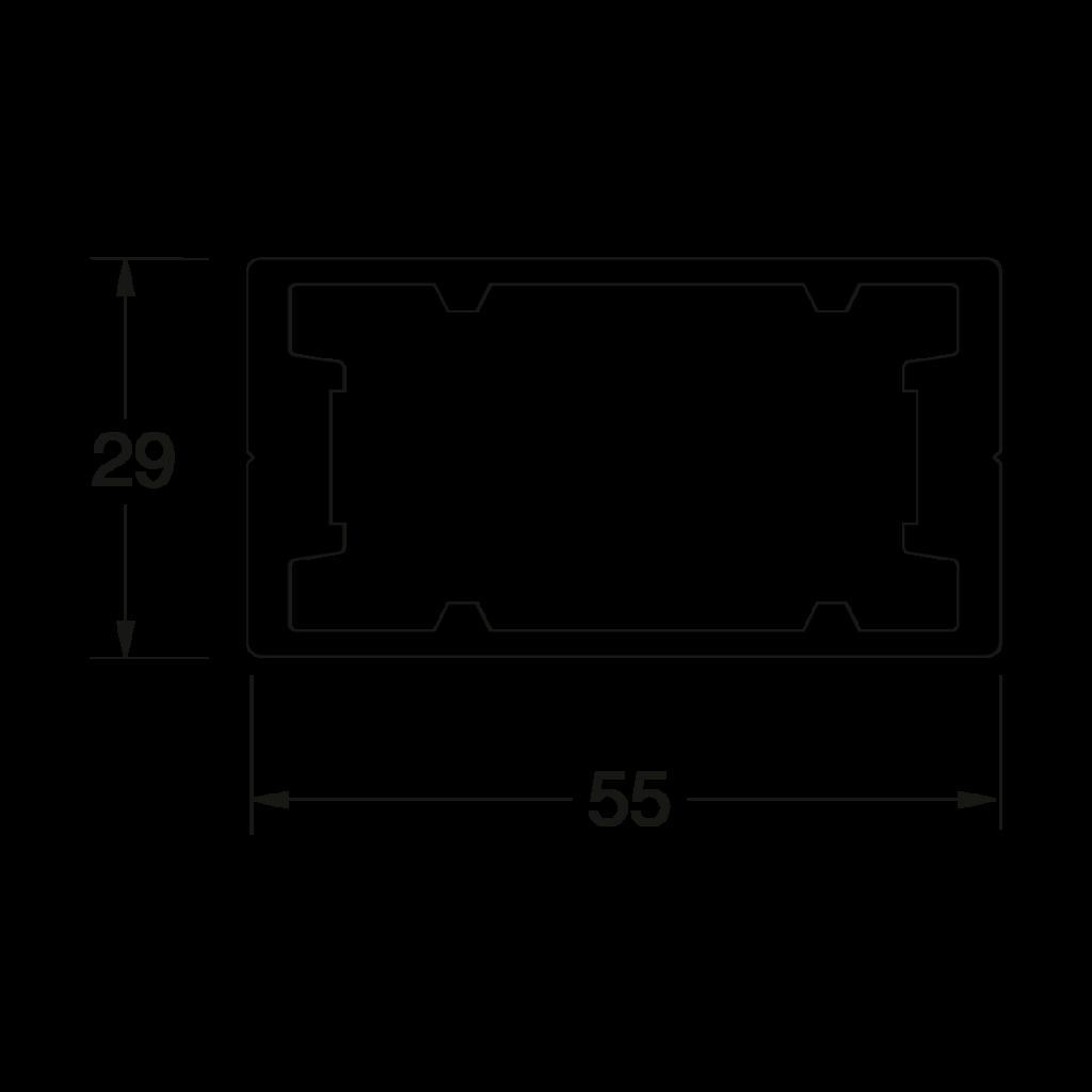 24 016 xxx Pfostenprofil G 1 - https://www.werzalit.com/fr/square-panneau-de-revetement-de-balcon/