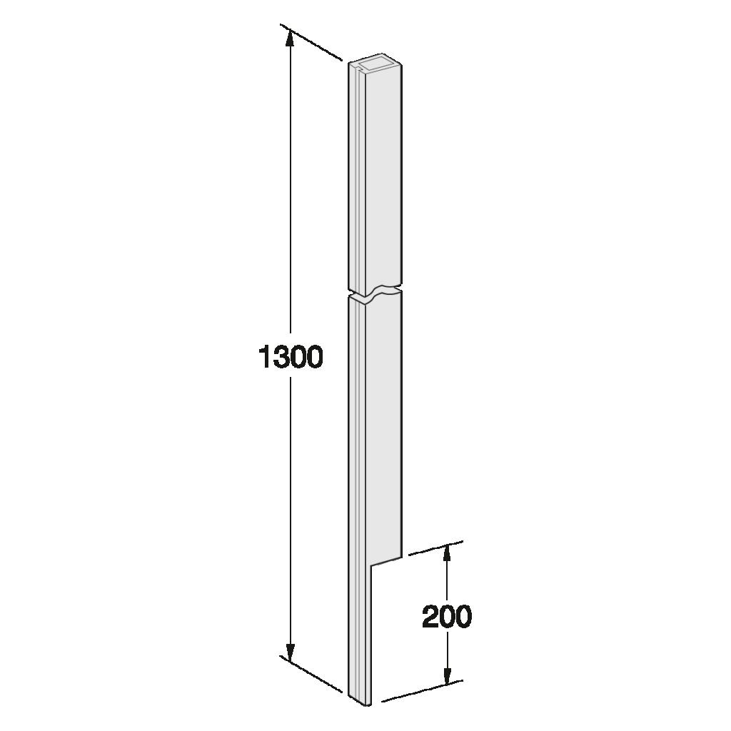 24 040 xxx Pfosten N 130 K 01 1 - https://www.werzalit.com/en/balcony-profile-roma/
