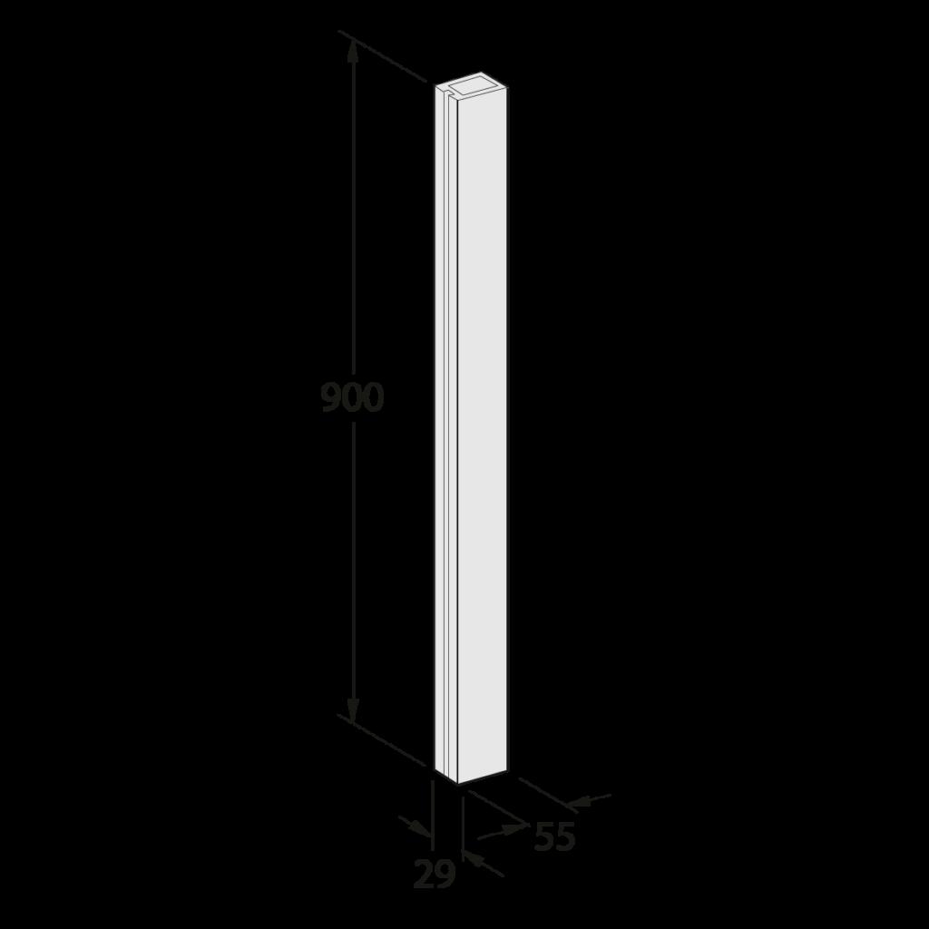24 041 xxx Pfosten N 90 02 1 - https://www.werzalit.com/en/balcony-profile-milano/