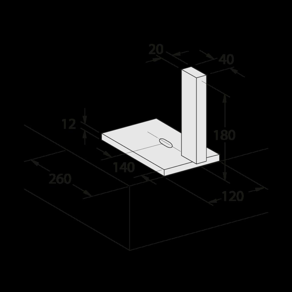 24 044 000 Aufsteckplatte W 125 1 - https://www.werzalit.com/en/balcony-profile-roma/
