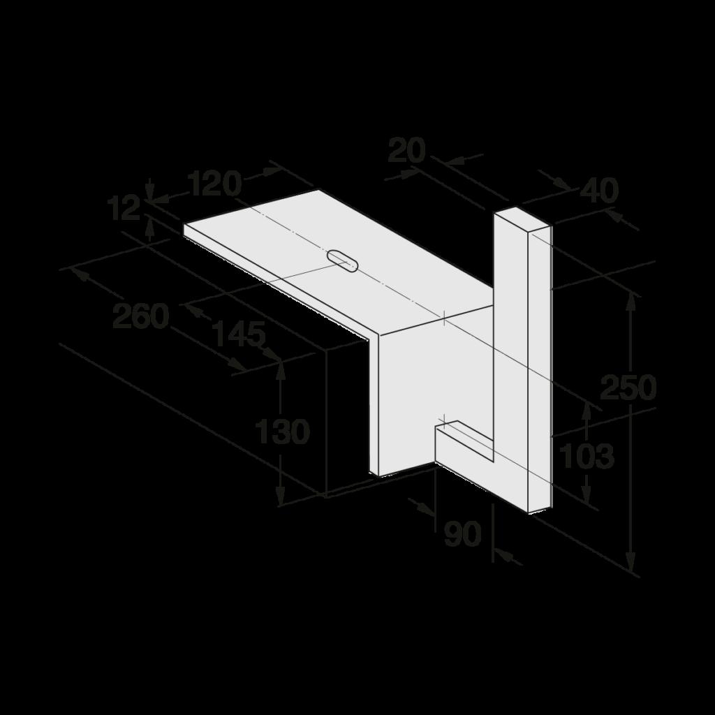 25 055 000 Winkelplatte 1 - https://www.werzalit.com/en/balcony-profile-milano/