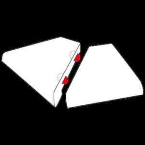 Gehrungsverbindung-Lamellos