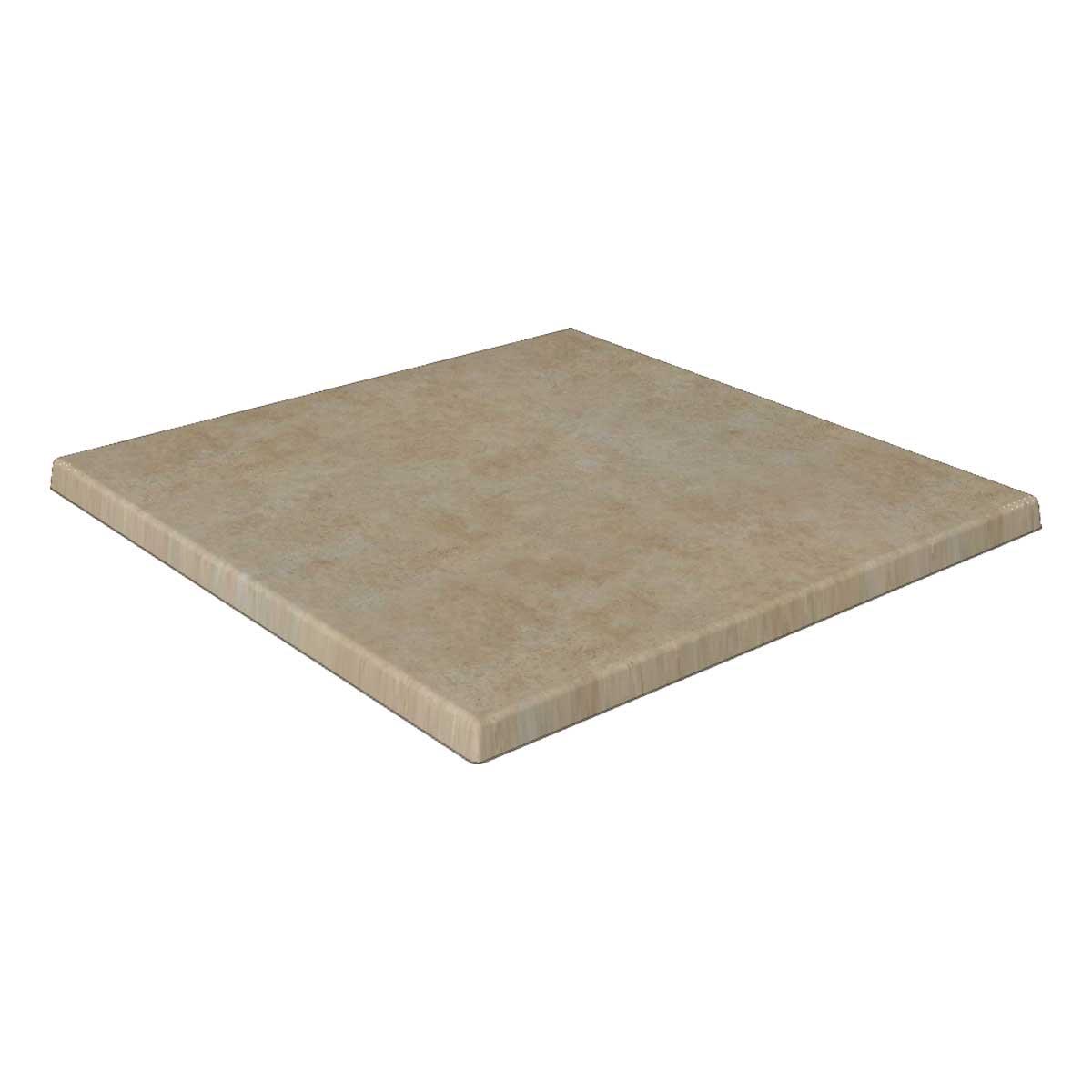 TICLA Q70 306 - https://www.werzalit.com/nl/product/tafelblad-classic-werzalit-q-70x70-306-catalan/