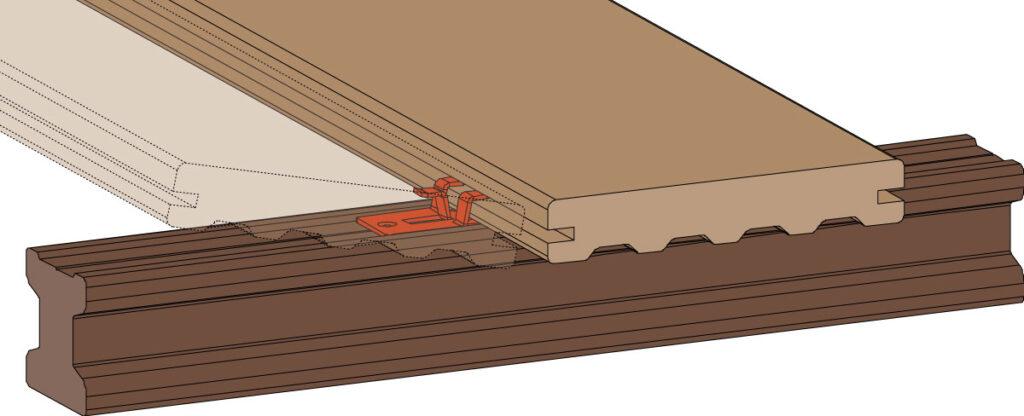 Terrasse Planung Montageclip 2 - https://www.werzalit.com/en/terrace-deckings-planning-and-assembly/