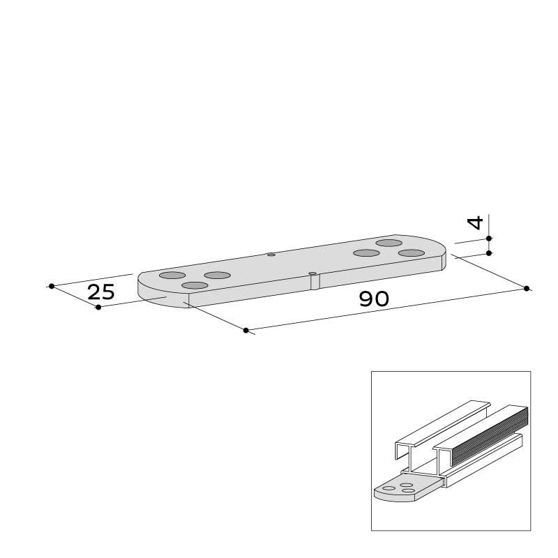 UK verbinder alu 35x23 22 454 000 - https://www.werzalit.com/en/product/unterkonstruktionsverbinder-alu-35x23/