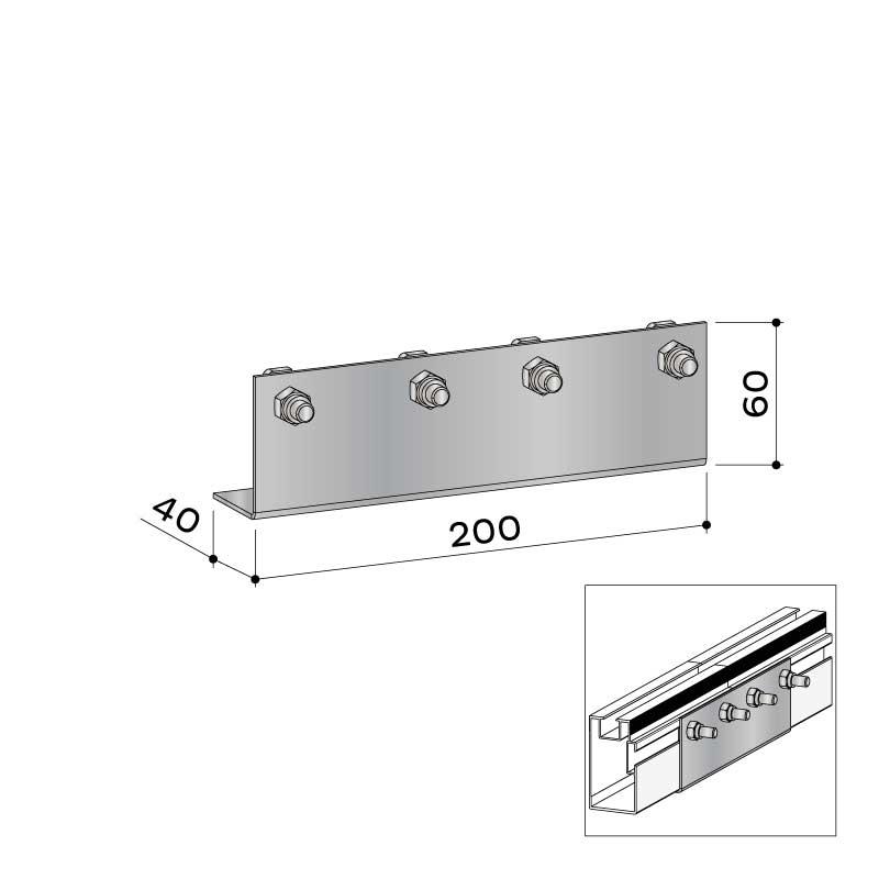 UK verbinder alu 40x75 22 456 000 - https://www.werzalit.com/fr/produit/unterkonstruktionsverbinder-alu-40x75/