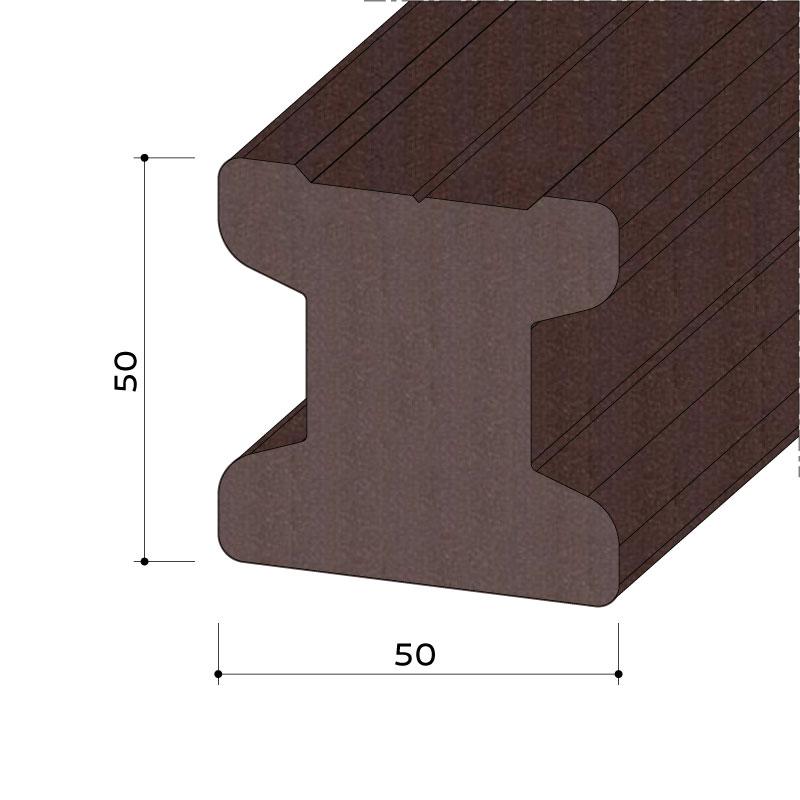 UK wpc 50x50 15 724 044 - https://www.werzalit.com/en/product/unterkonstruktionsprofil-wpc-50x50/